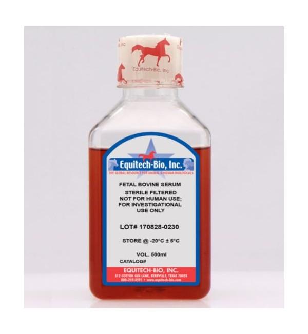 Sterile filtered fetal bovine serum, triple 0.1 micron filtered