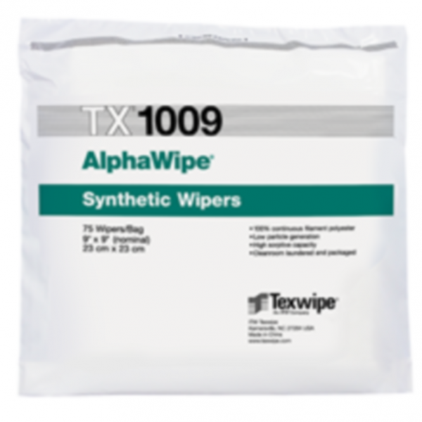 Dry, Non-Sterile, 100% polyester, cut-edge wipers9