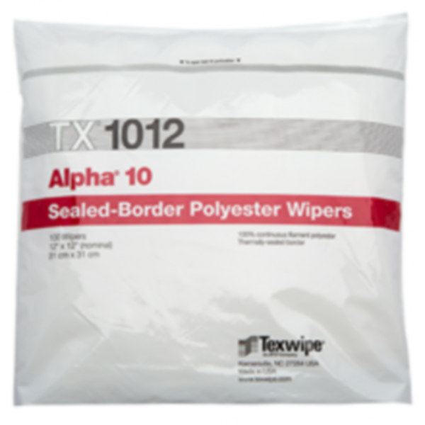 Dry, Non-sterile, 100% polyester, sealed-border wipers 12
